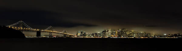 Bay Photograph - Bay Bridge San Francisco by C.s.tjandra