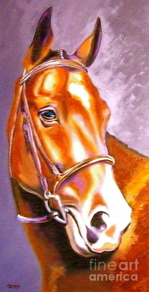 Painting - Oldenburg Sport Horse Champion by Susan A Becker