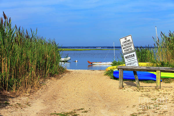 Photograph - Bay Entry On Long Beach Island by John Rizzuto