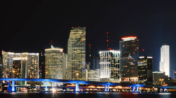 Photograph - Bay Front Miami Skyline by Gary Dean Mercer Clark
