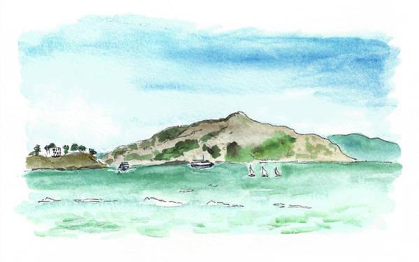 Sausalito Painting - Bay by Masha Batkova