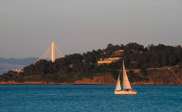 Photograph - Bay Scene With Sailboat by Bonnie Follett