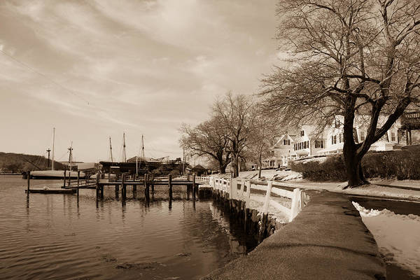 Photograph - Bay Street In Winter - Mystic Ct by Kirkodd Photography Of New England