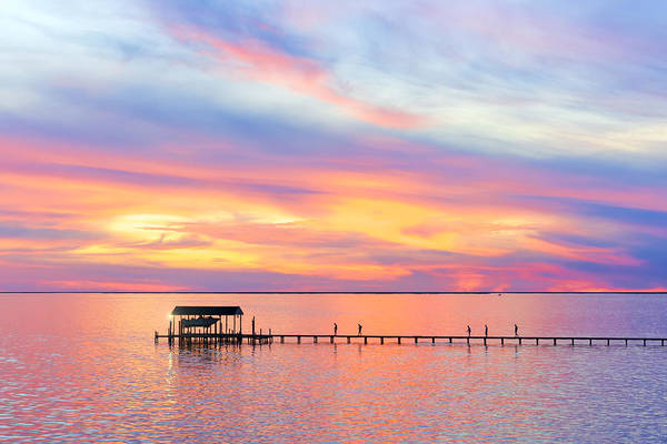 Choctawhatchee Bay Photograph - Bay Sunset by Janet Fikar