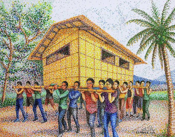 Painting - Bayanihan 2 by Cyril Maza