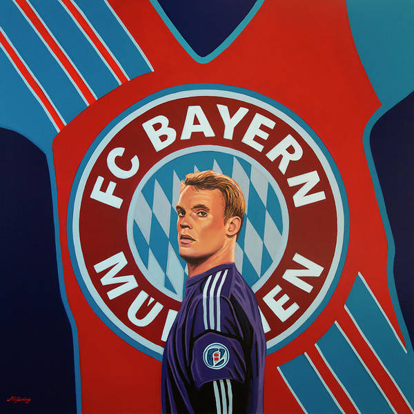 Football Players Wall Art - Painting - Bayern Munchen Painting by Paul Meijering