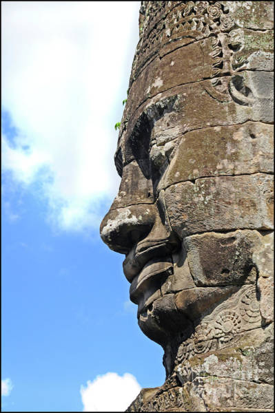 Angkor Wall Art - Photograph - Bayon Face by Marion Galt