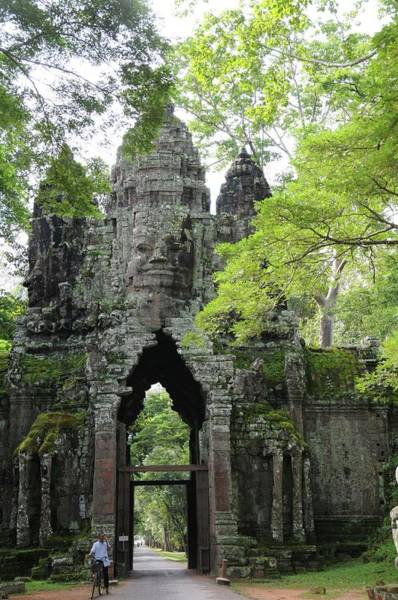 Angkor Wall Art - Photograph - Bayon Gate by Marion Galt