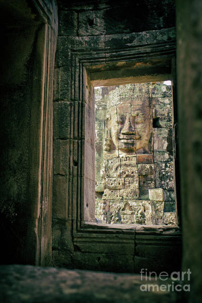 Photograph - Bayon Temple, Angkor Thom, Angkor Wat Archaeological Park, Cambodia by Sam Antonio Photography
