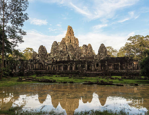Photograph - Bayon Temple In Angkor by Didier Marti