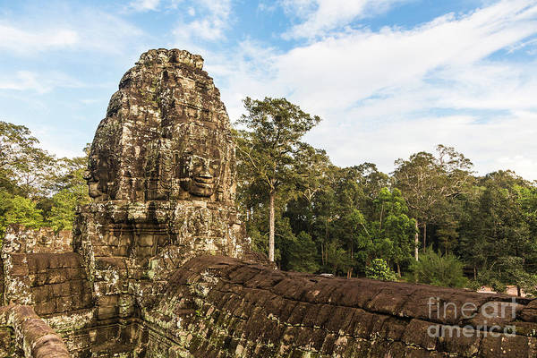 Photograph - Bayon Temple In Angkor Thom In Cambodia by Didier Marti