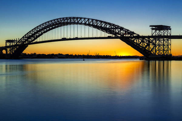 Photograph - Bayonne Bridge Last Light  by Susan Candelario