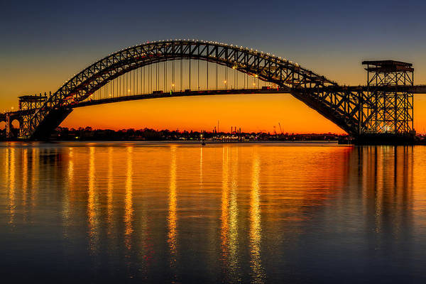 Photograph - Bayonne Bridge Sunset by Susan Candelario