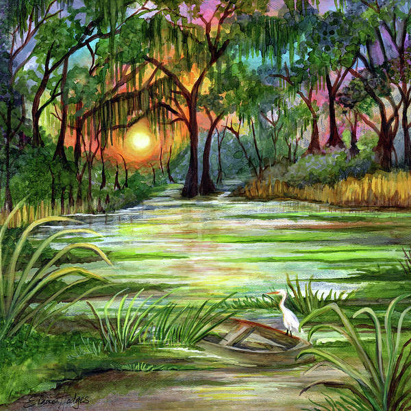 Wall Art - Painting - Bayou Colors by Elaine Hodges