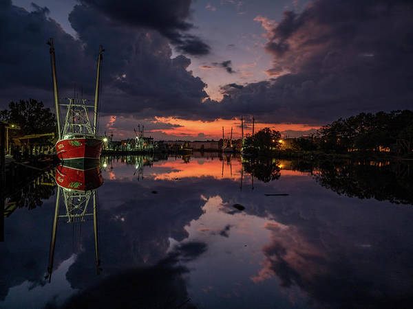 Photograph - Bayou Dusk And Reflection by Brad Boland
