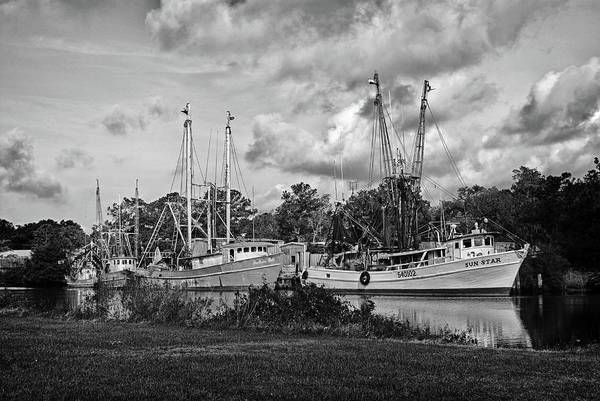 Digital Art - Bayou Lebatre Shrimpboats by Michael Thomas