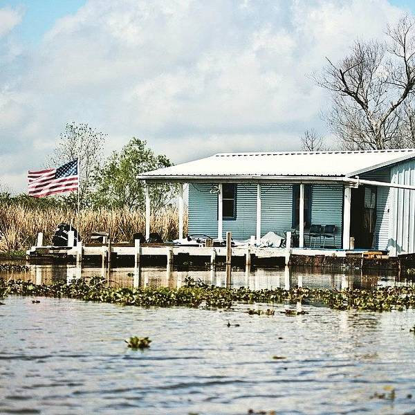 Wall Art - Photograph - Bayou Living #camp #bayou #louisiana by Scott Pellegrin