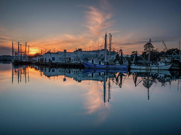 Photograph - Bayou Sunset And Reflection by Brad Boland