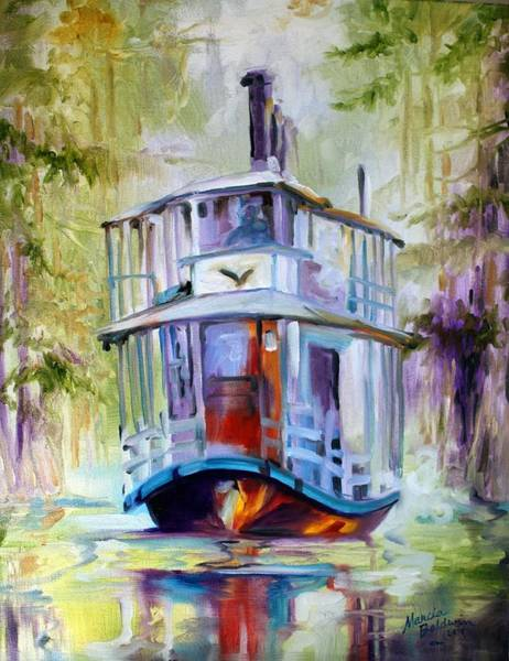 Swamp Painting - Bayou Taxi Waterscape by Marcia Baldwin
