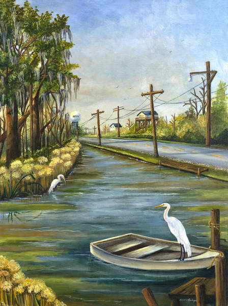 Wall Art - Painting - Bayou Terre Aux Boeufs by Elaine Hodges