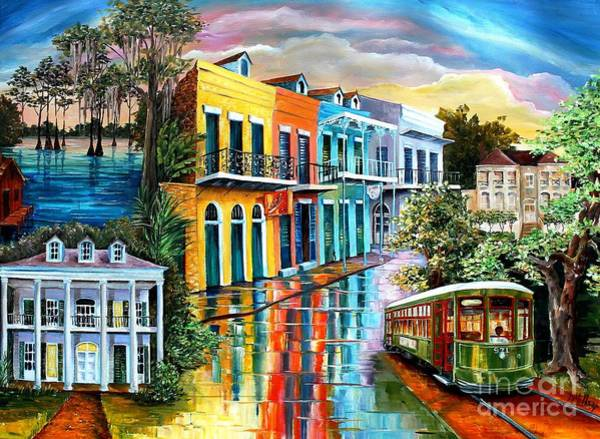 Wall Art - Painting - Bayou To The Big Easy by Diane Millsap