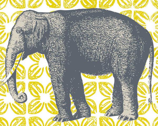 Yellow Digital Art - Bazaar Elephant Yellow by Thomas Paul