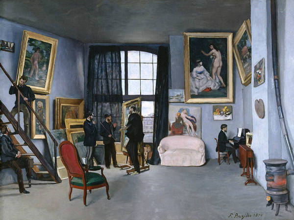 Window Frame Painting - Bazille's Studio by Frederic Bazille