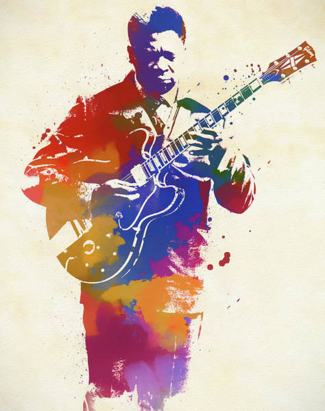Wall Art - Painting - Bb King Watercolor by Dan Sproul