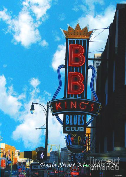 Photograph - Bb King's On Beale St Memphis Tn by Lizi Beard-Ward