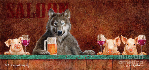 Painting - Bb Wolf And Company... by Will Bullas