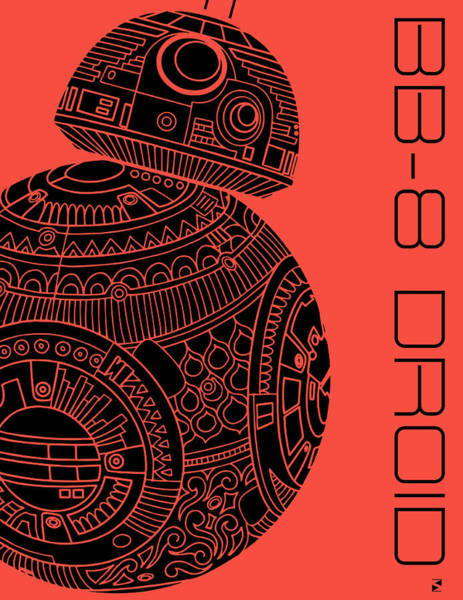 Best Selling Mixed Media - Bb8 Droid - Star Wars Art, Red by Studio Grafiikka