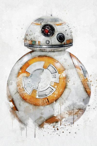 Jedi Digital Art - Bb8 - Star Wars by Jeffrey St Romain