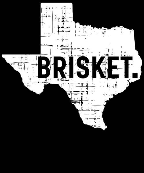Barbeque Digital Art - Bbq Brisket Texas Gift Barbecue by Michael S