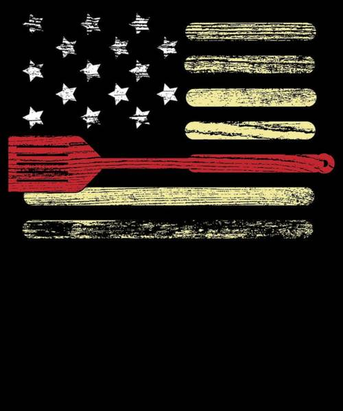 Barbeque Digital Art - Bbq Grilling American Flag 4th July Gift Independence Day by Michael S