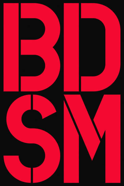 Wall Art - Painting - Bdsm Black And Red by Three Dots