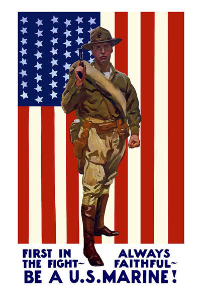 Wall Art - Painting - Be A Us Marine by War Is Hell Store