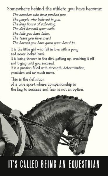 Be Equestrian Quote Art Print