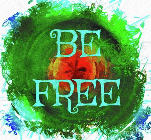 Brain Painting - Be Free by Mary Bassett