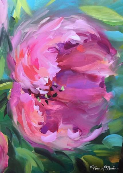 Wall Art - Painting - Be Free Pink Tulip by Nancy Medina