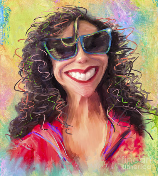 Caricature Mixed Media - Be Happy by Andrea Auletta