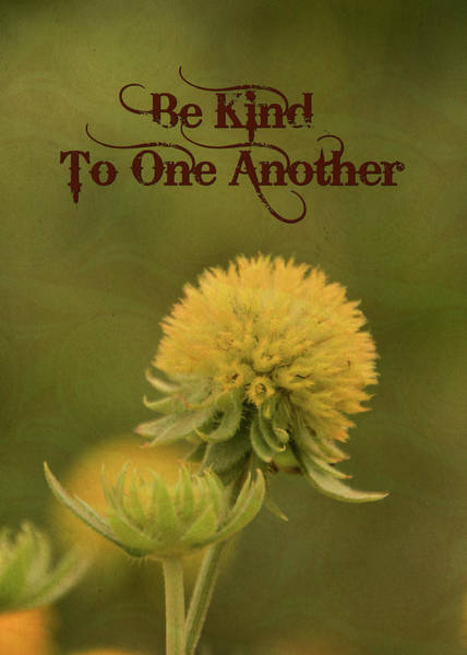 Wall Art - Mixed Media - Be Kind To One Another by Trish Tritz
