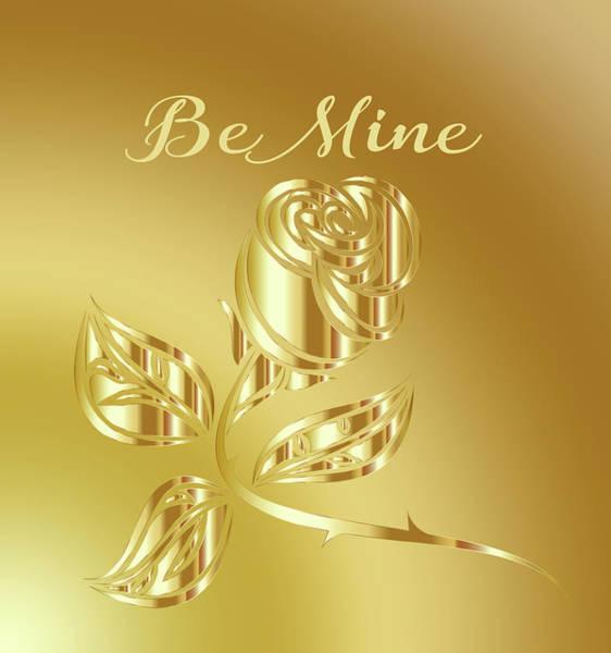 Digital Art - Be Mine Rose 010 by Ericamaxine Price