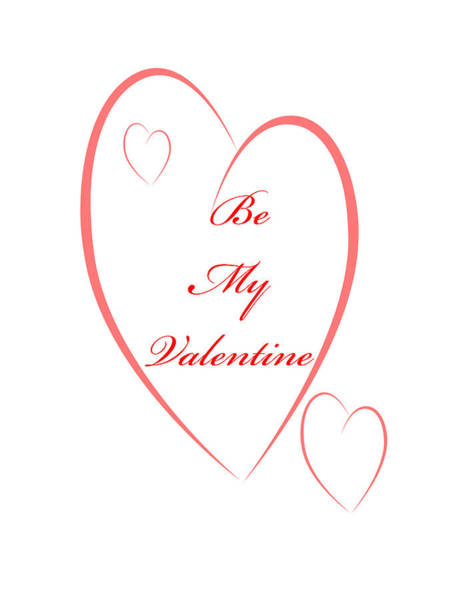 Digital Art - Be My Valentine by Judy Hall-Folde