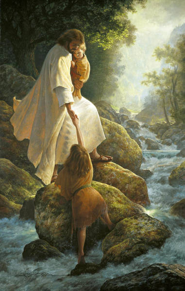 Rock Painting - Be Not Afraid by Greg Olsen