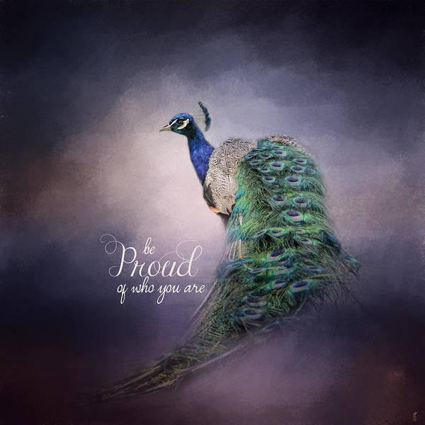 Photograph - Be Proud - Peacock Art by Jai Johnson
