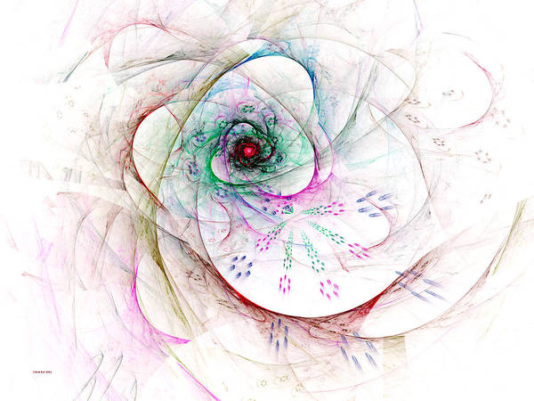 Digital Art - Be Strong Little Flower by Claire Bull