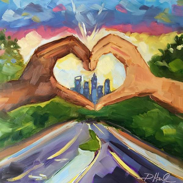 Charlotte Nc Wall Art - Painting - Be The Love by Donna Heil
