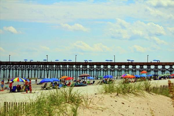 Photograph - Beach And Pier by Cynthia Guinn
