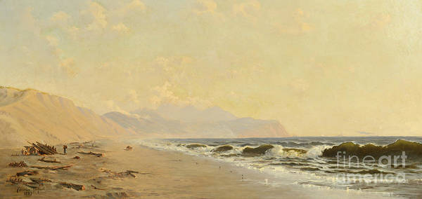 Painting - Beach And Tillamook Head by Celestial Images