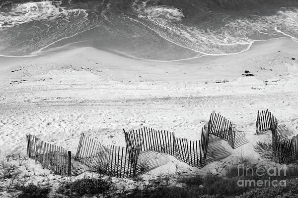 Photograph - Beach Art Black And White by Karen Adams